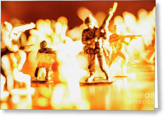 Greeting Card featuring the photograph Plastic Army Men 1 by Micah May