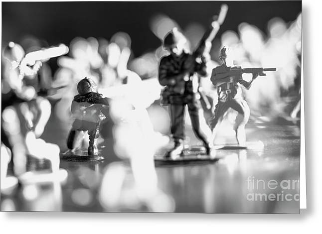Greeting Card featuring the photograph Plastic Army Men 2 by Micah May