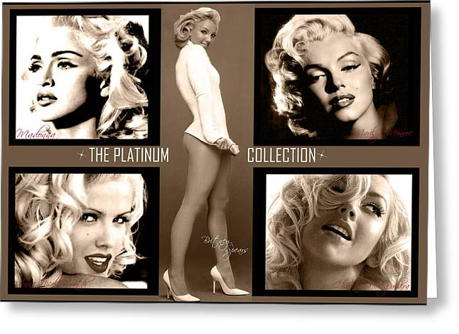 Platinum Collection Greeting Card by Anibal Diaz