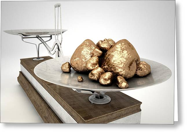 Platinum Nuggets Greeting Card by Allan Swart