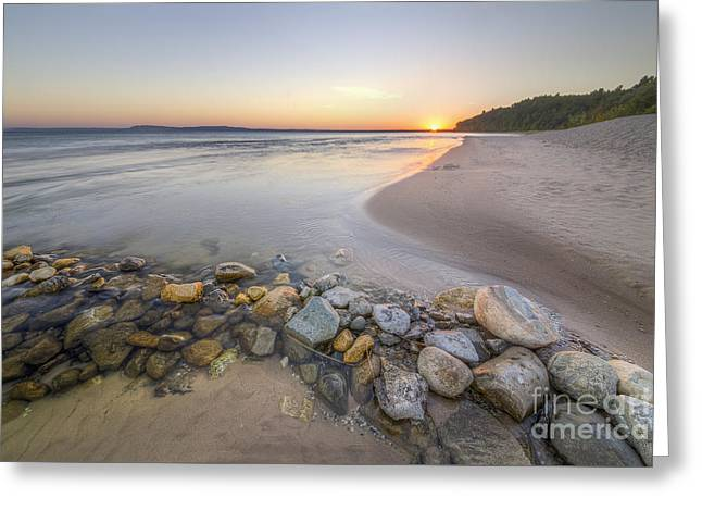 Platte River Sunrise Greeting Card by Twenty Two North Photography
