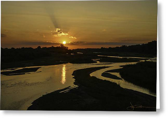 Platte Sunrise 3890 Greeting Card