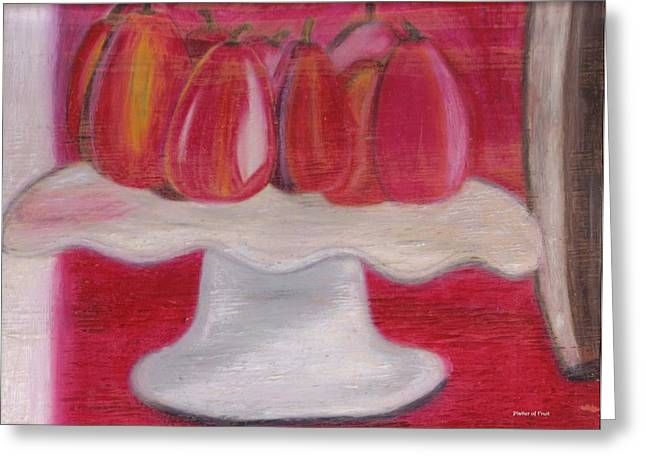 Platter Of Fruit Greeting Card by Nona Peru