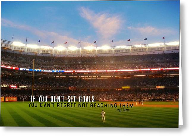 Play Ball Quote Greeting Card by JAMART Photography