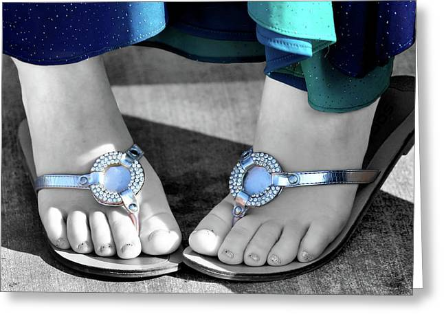 Play Footsie Greeting Card by Karen M Scovill