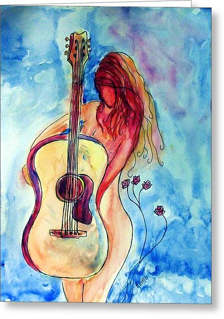 Play Me A Song Greeting Card by Robin Monroe
