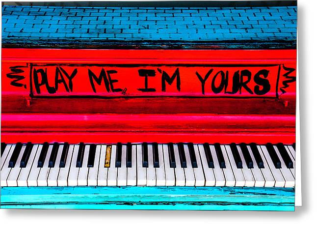 Play Me I'm Yours Greeting Card by Garry Gay