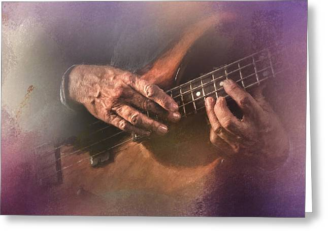 Play Me Some Blues Greeting Card by David and Carol Kelly