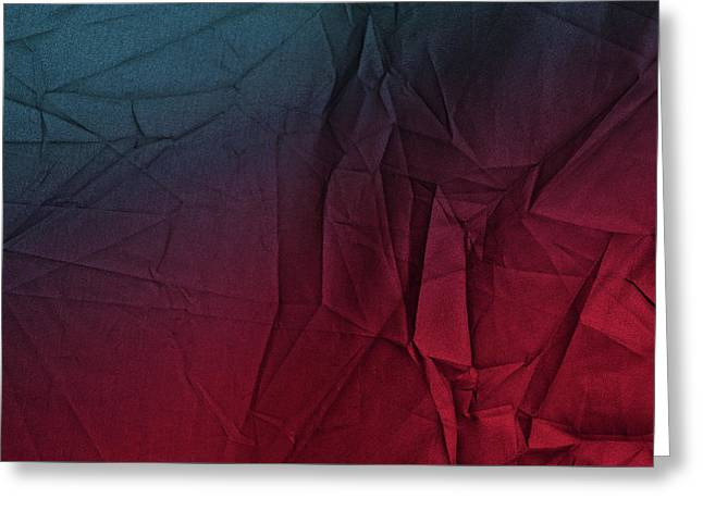 Play Of Hues. Burgundy Red And Sapphire Blue. Textured Abstract Greeting Card
