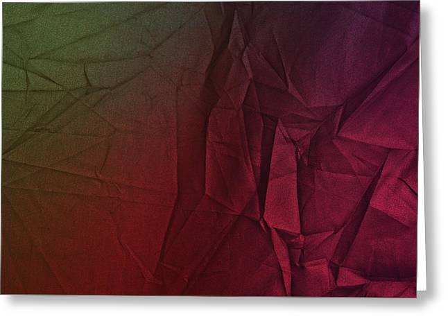 Play Of Hues. Dark Olive Green And Violet Red. Textured Abstract Greeting Card