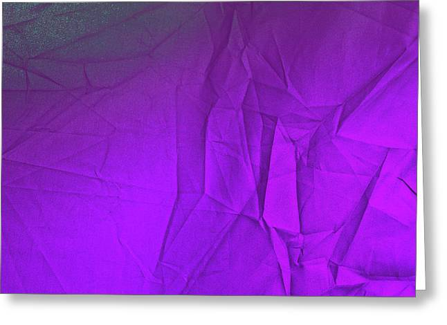 Play Of Hues. Dark Violet With Hint Of Green. Textured Abstract Greeting Card