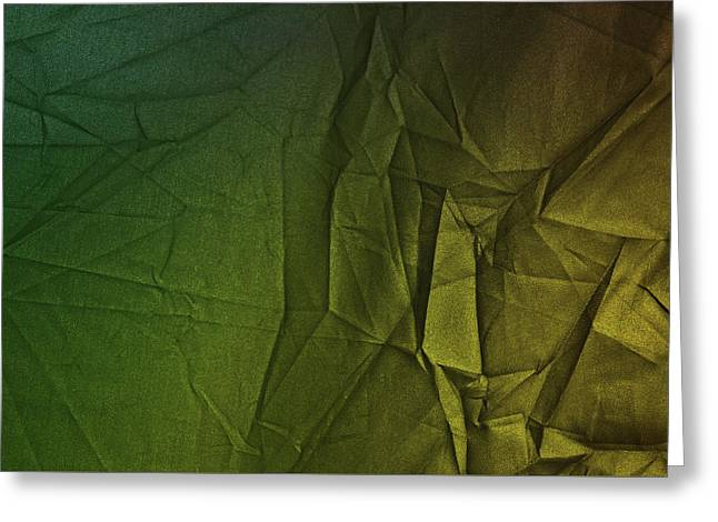 Play Of Hues. Forest Green And Olive Drub Gold. Textured Abstract Greeting Card