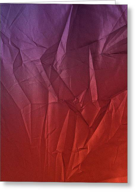 Play Of Hues. Medium Orchid Purple And Firebrick Red. Textured Abstract Greeting Card