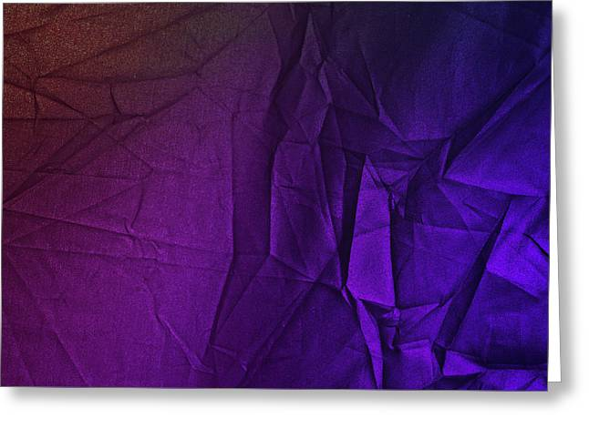 Play Of Hues. Purple And Magenta. Textured Abstract Greeting Card