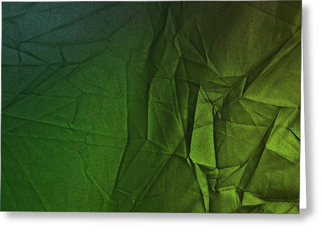 Play Of Hues. Sea Green And Olive Drab. Textured Abstract Greeting Card