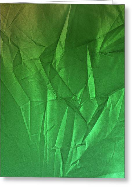 Play Of Hues. Spring Green And Metallic Sea Green. Textured Abstract Greeting Card