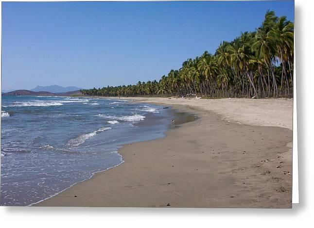 Playa Blanca Greeting Card by James Johnstone