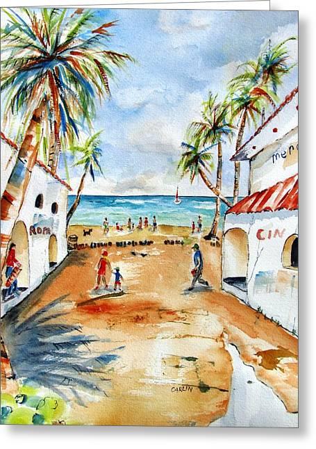 Playa Del Carmen Greeting Card by Carlin Blahnik