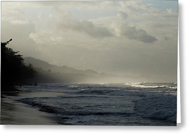 Playa Negra Beach At Sunset In Costa Rica Greeting Card