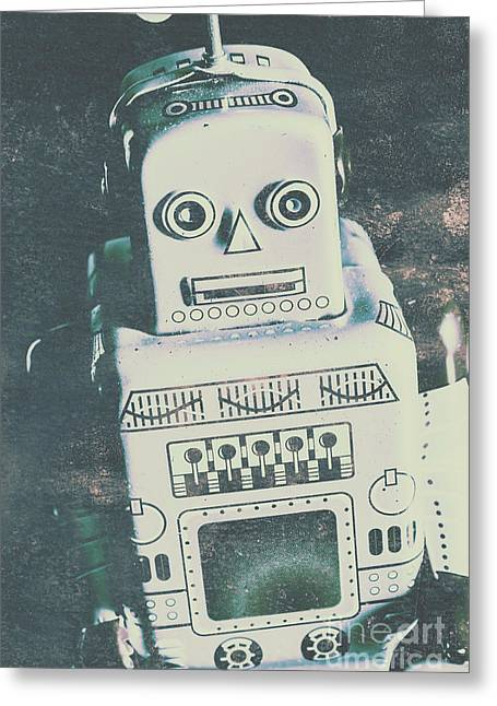 Playback The Antique Robot Greeting Card by Jorgo Photography - Wall Art Gallery
