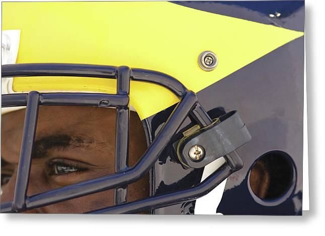 Player In Winged Helmet Greeting Card