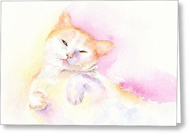 Playful Cat II Greeting Card