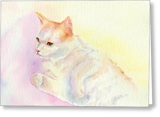 Playful Cat IIi Greeting Card by Elizabeth Lock