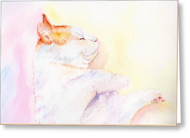 Playful Cat Iv Greeting Card by Elizabeth Lock