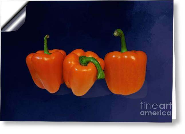 Playful Peppers Greeting Card