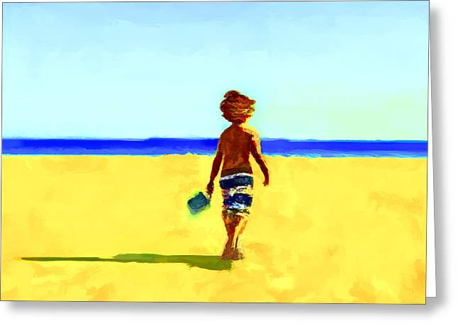 Playful Shores... Greeting Card by Lee Haxton