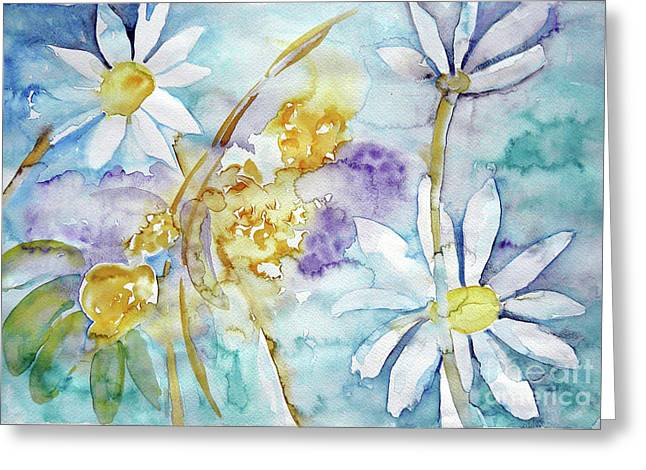 Greeting Card featuring the painting Playfulness by Jasna Dragun