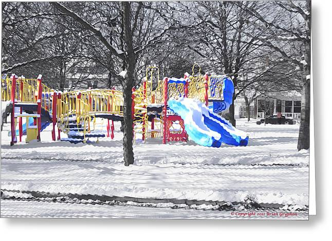 Greeting Card featuring the photograph Playground 16d by Brian Gryphon