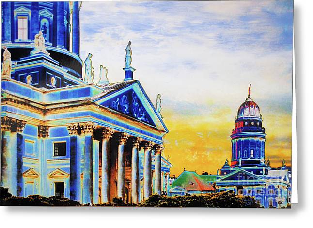 Playhouse And French Dome Greeting Card
