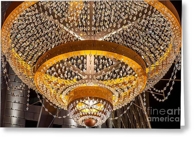 Playhouse Square  Chandelier  Greeting Card by Frank  Cramer