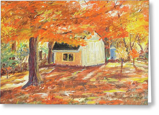 Playhouse In Autumn Greeting Card