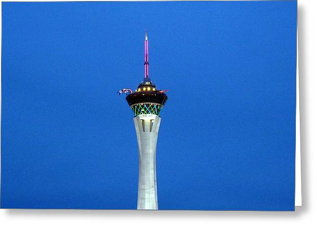Playhouse In The Sky Greeting Card by Tim Mattox