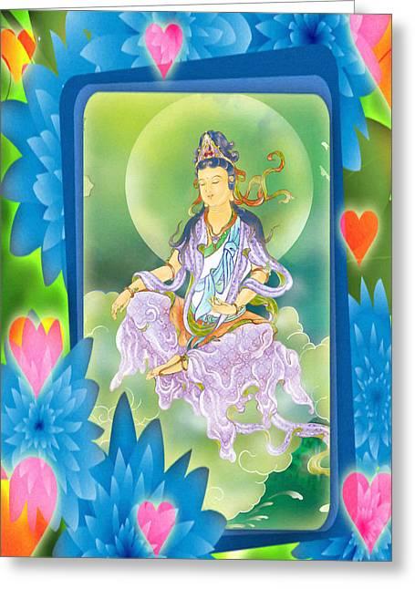 Playing Avalokitesvara 1 Greeting Card by Lanjee Chee