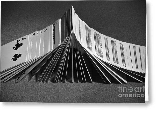 Playing Cards Domino Greeting Card