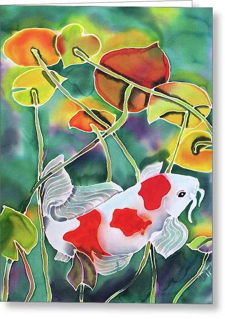 Playing Koi Greeting Card