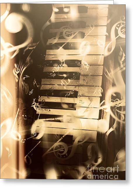 Playing Piano Greeting Card