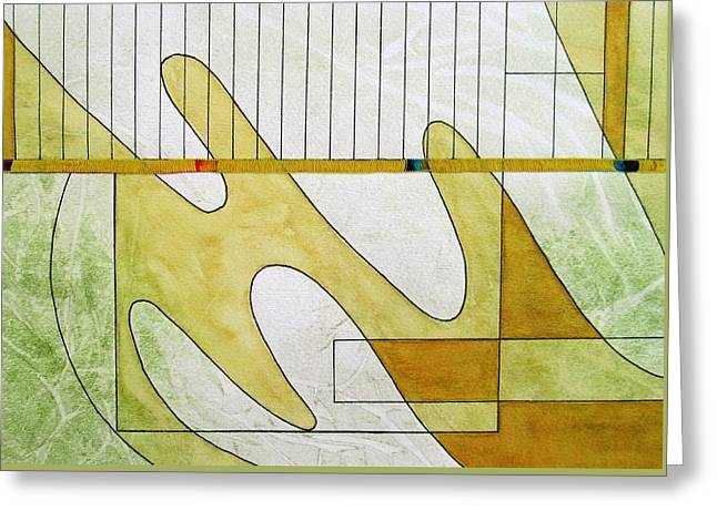 Playing The Piano With Jerry Greeting Card by Louise Adams