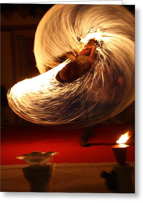 Playing With Fire Greeting Card by Lee Anderson