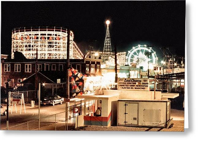 Amusement Park Greeting Cards - Playland Greeting Card by Bruce Lennon