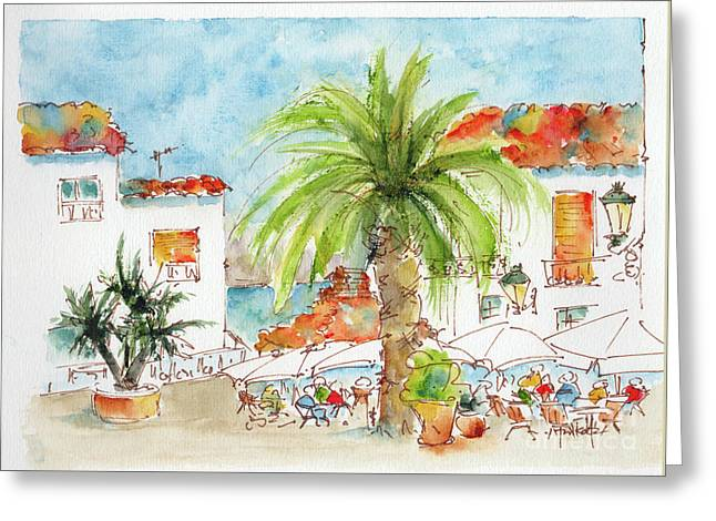 Plaza Altea Alicante Spain Greeting Card