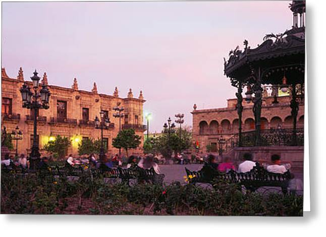 Plaza De Armas, Guadalajara, Mexico Greeting Card by Panoramic Images
