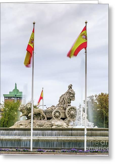 Plaza De Cibeles, Madrid, Spain Greeting Card