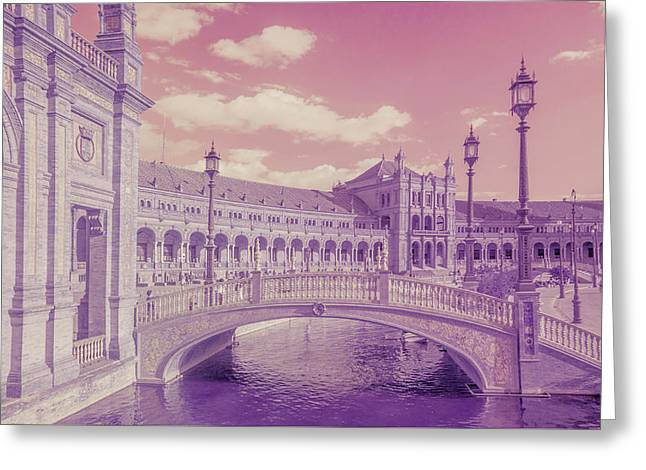 Greeting Card featuring the photograph Plaza De Espana. Dreamy by Jenny Rainbow