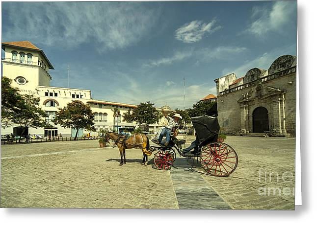 Plaza De San Francisco  Greeting Card