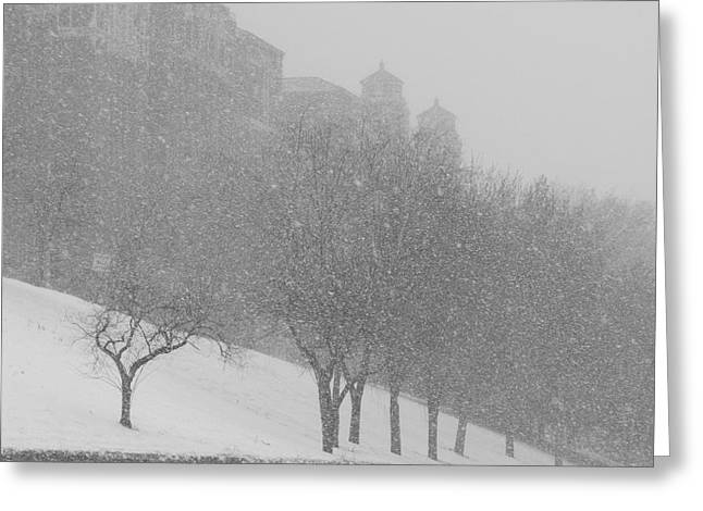 Plaza Impressionism With Kc Snow Greeting Card