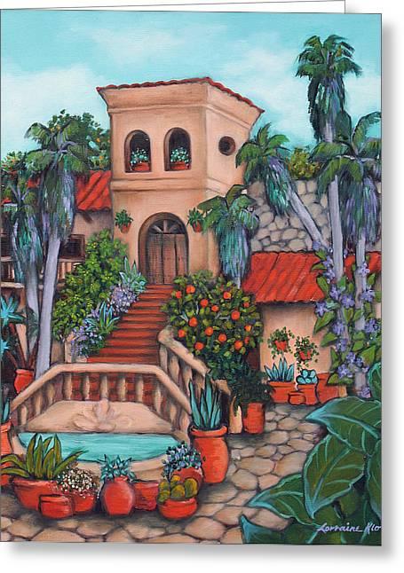 Plaza Jardin Greeting Card by Lorraine Klotz
